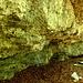 entweder der Dachkante entlang oder unten am Boden: lange Traversen an einem schönen Kalkfelsen