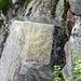 Die bekannte Stelle mit dem eingehauenen Fels