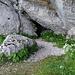 Der Eingang zur Grotte de la Marie du Jura.