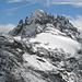 Gspaltenhorn, unmittelbar davor (über dem grossen Schneefeld) die Bütlasse
