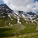 unser Weg ins noch schneebedeckte Schafälpli gen Greddigs-Fürggli (noch nicht sichtbar...)
