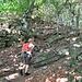 Salendo nel bosco.
