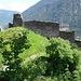 Die Burgruine Solavers oberhalb Grüsch