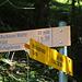 """Bei der Wegverzweigung P.1857m:<br /><br />Nein, auf die """"Bschissni Matte"""" wollte icht nicht! :-)<br /><br />Ich flogte dem inzwischen nicht mehr unterhaltenem Bergwanderweg weiter das Fleschtal hinauf."""