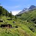 Die Alp Chällerli (1897m).<br /><br />Der Jäger und sein Kumpel luden mich am nächsten Tag beim Abstieg zu einem Bier ein. Es war Interessant mit den beiden urichgen Walliser über das Tal und die Natur zu reden.