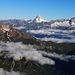Scherbadung / Pizzo Cervandone (3210,5m):<br /><br />Gipfelaussicht im Zoom übers Goms zum Bietschhorn (3934,1m) und Nesthorn (3821m).
