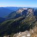 Scherbadung / Pizzo Cervandone (3210,5m):<br /><br />Gipfelaussicht nach Italien im Süden mit den Gipfeln Pizzo Diei (2906m) und Monte Cistella (2880m).