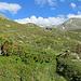 Blick zurück auf den Skitourenberg Kreuzspitze