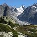 Fieschergetscher, Finsteraarrothorn (3530m) und Oberaarhorn (3630m) Wasenhorn (3446m) von nördlichen Tälligrat.<br /><br /><br />