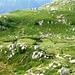 Am Aufstieg zum Passo Fornale - die lieblichen Weiden vor Piatto 2183m