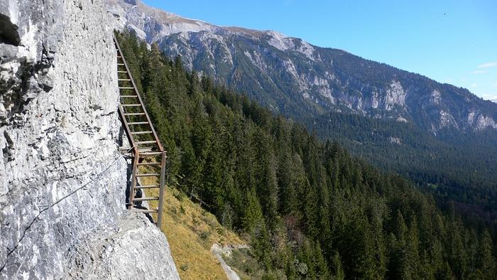 Klettersteig Pinut : Im klettersteig pinut ganz schön luftig fotos hikr
