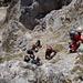 auf dem leichten Klettersteig herrschte Hochbetrieb und Gedränge, weil jeder im leichten Gelände seine Sicherung eingehängt hatte....