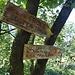 con questo sentiero si giunge anche alle  vie Jean e Marina