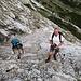 Adi und Petra in der steilen Westflanke