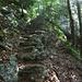 steinige Treppe