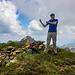 3. Gipfelerfolg - mit den Korab (Hauptgipfel) im Hintergdrund
