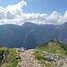 Gipfelpanorama an der Scheinbergspitze.