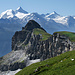 Petit Mont Bovin mit Weisshorn und Co