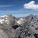 Trubelstock 2999m - Sicht zu Schwarzhorn 3103m, Rinderhorn 3449m, Balmhorn 3698m
