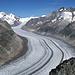 Vom Bettmergrat 2871m, Aletschgletscher, Mönch 4107m, Trugberg 3932m, Unners Mönchsjoch 3519m, Wannenhorn 3906m