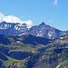 Blick hinüber zum Tristelhorn und dem Ringelspitz, (in dern Wolken)