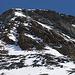 Kletterer im Abstieg auf der Rippe