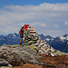Gipfelsteinmann mit Marker und Logbox