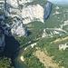 Blick von der Grotte de la Madeleine auf den Fluss