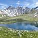 """Der See auf 2519m Höhe. Auf der LK steht """"Lai""""."""