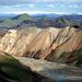 Vielschichtig, vielfarbig! Die Liparitberge von Landmannalaugar, das Gebiet um Vedivötn und der Langjökull am Horizont