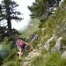 Gegen Ende des Anstiegs Blick zurück zur Alp Zilistock