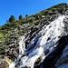 Le lendemain : Lac de Mattmark. cascade de l'Ofentalbach