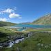 Lago Montespluga e sterrato con parcheggio