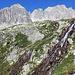 Ein schöner Wasserfall im Aufstieg zum Gerenpass.