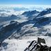 die weite Gletscherlandschaft der Vadret Morteratsch und Pers
