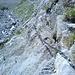 Aufstieg zur Lämmerenhütte über dem Bachbett