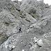 die Kletterstelle im Val Münschauns, es geht ein paar Meter links hinauf