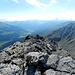 Piz Daint, Blick auf das Val Müstair, ganz hinten der Ortler
