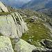 schmalere und breitere Felsbänder