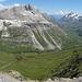600m absteigen bevor der Talboden erreicht ist.