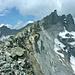 Rechts der Ringelspitz (3248m), links das Tristelhorn (3114m)