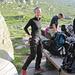 Berg-Strapsen-Anziehen am Morgen inklusive neckischem Blick :-)