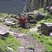 seguiamo il sentiero nuovo che porta al lago dei Sabbioni
