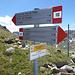 Pass da Val Mera / Landesgrenze. Es gibt sogar ein Pfad nach Vedreit da Camp.