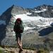 Aufstieg zur Almagellerhütte, im Hintergrund einer der unzähligen attraktiven Grätchen