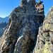 Blick zurück zu dem Klettergrat