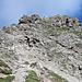 Beginn der Drahtseil-Passage, kurz vor dem Gipfel des Litnisschrofen – Ende unserer Tour :-(