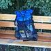 Auch Fränzi testet heute ihren ersten selbergenähten Rucksack. Sieht sehr professionell aus! 60 Liter, 500g