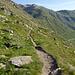 Wanderweg entlang Osthang von Valle della Forcola.