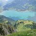 """Blick vom Nägeliberg zur Alp Säls und einen """"Stock"""" tiefer zum Walensee"""